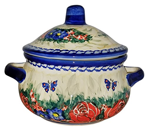 Boleslawiec Polish Pottery Covered Container Baker Eva's Collection