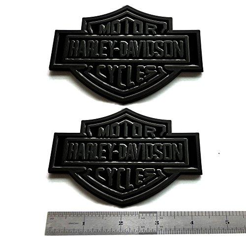 2x OEM Harley Davidson Fuel Tank Emblems Badges Dyna Sportster Street 3D logo Replacement for F-150 F250 F350 Black