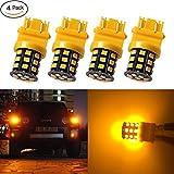 #8: Antline 3157 3156 3057 4157 3056 LED Bulbs Amber Yellow, 12-24V Super Bright 1000 Lumens Replacement for Turn Signal Blinker Lights, Side Marker Lights (Pack of 4)