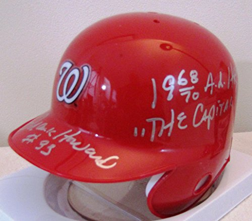 Frank Howard Washington Senators Nationals Mini Helmt With Home Run King & Capital Punisher Inscriptions (Washington Mini Helmet Riddell Nationals)