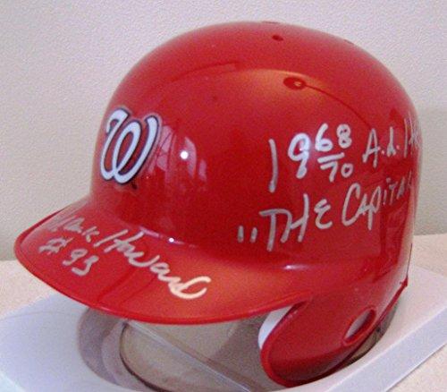 Frank Howard Washington Senators Nationals Mini Helmt With Home Run King & Capital Punisher Inscriptions (Nationals Helmet Riddell Washington Mini)