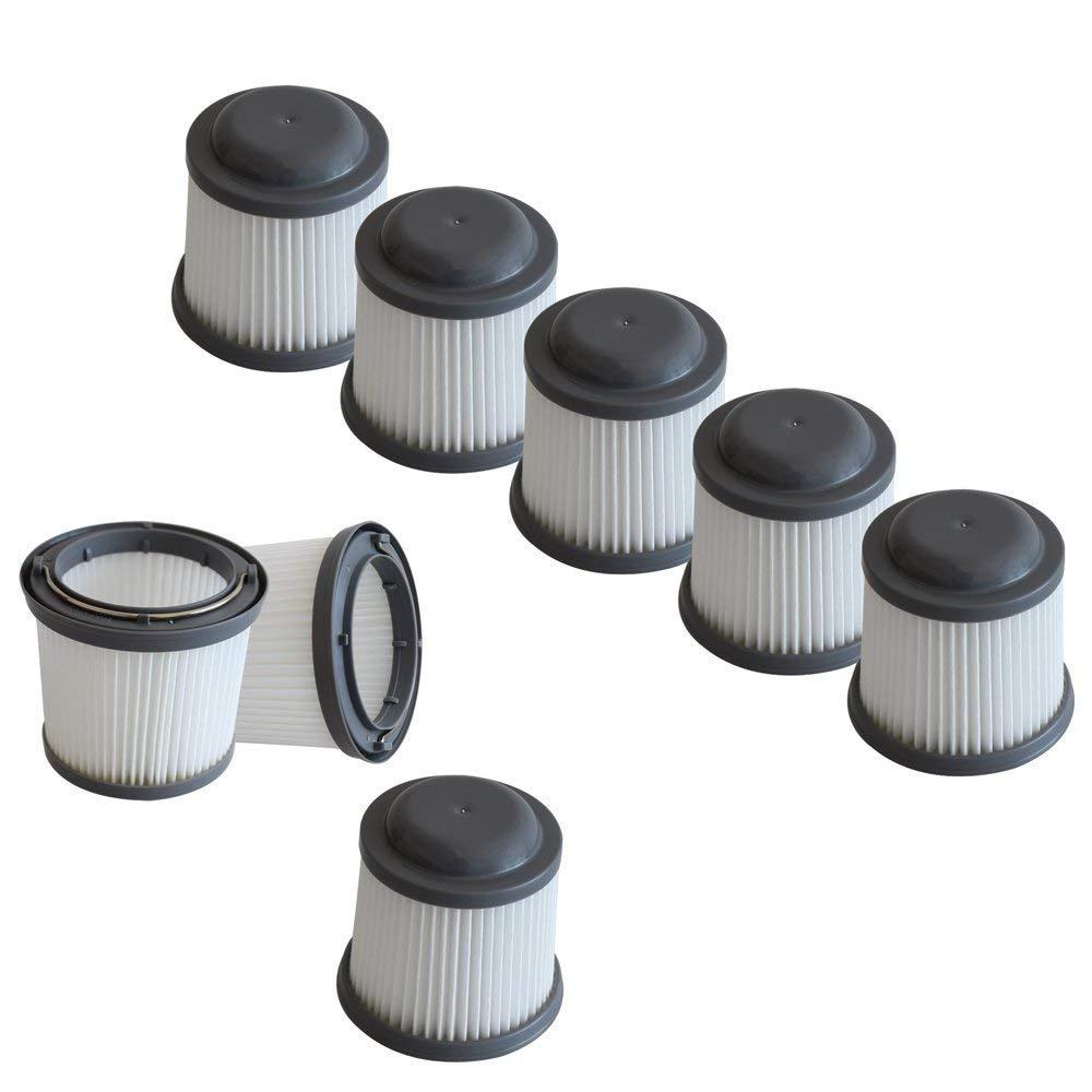 Mumaxun 8-pack Replacement Filter Black & Decker PVF110 PHV1210 PHV1810 Vacuum, Compared to part # 90552433 90552433-01