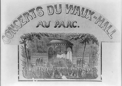 Photo: Concerts du Waus-Hall au Parc,c1870s,Bandstand,Vauxhall