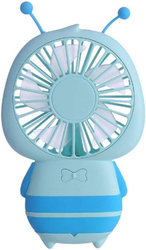 HEYJO1 1 UNID Recargable Portátil de Dibujos Animados USB Abanico Pedestal de Enfriamiento Ventilador Personal Ventilador de Mano En Casa Oficina, Azul Claro: Amazon.es: Hogar
