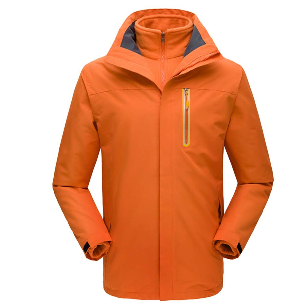 iLXHD Men Winter Hooded Softshell Windproof Waterproof Soft Coat Shell Jacket C257 Orange by iLXHD