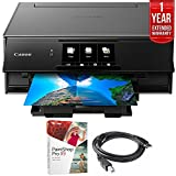 Canon PIXMA 9120 Printer Gray (2231C002) Corel Paint Shop Pro X9 Digital Download, High Speed 6-foot USB Printer Cable & 1 Year Extended Warranty