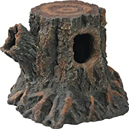 Zilla Reptile Habitat Décor Hideouts Stump Den, Medium