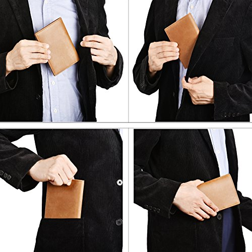 IDEAWIN Travel Passport Wallet Passport Holder RFID Block Leather Passport Cover by IDEAWIN (Image #5)