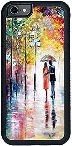ديكالاك كفر حماية لهاتف ايفون 6 اس، بتصميم لوحة زيتية لزوجين تحت المطر، متعدد الالوان