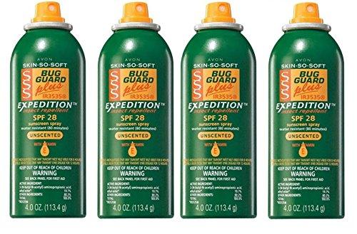 Avon Pack of 4 SKIN SO SOFT Bug Guard Plus IR3535® EXPEDITION SPF 30 Aerosol Spray (Pack Of  4)