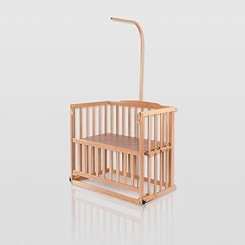 Baby Betten Beistellbett Babybett 90x40 Cm Mit Matratze Und Räder Höhenverstellbar Kiefer