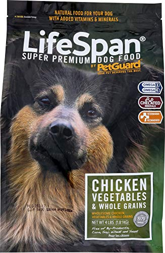 (NOT A CASE) LifeSpan Premium Dog Food Chicken, Vegetables & Whole Grains, 4 lb