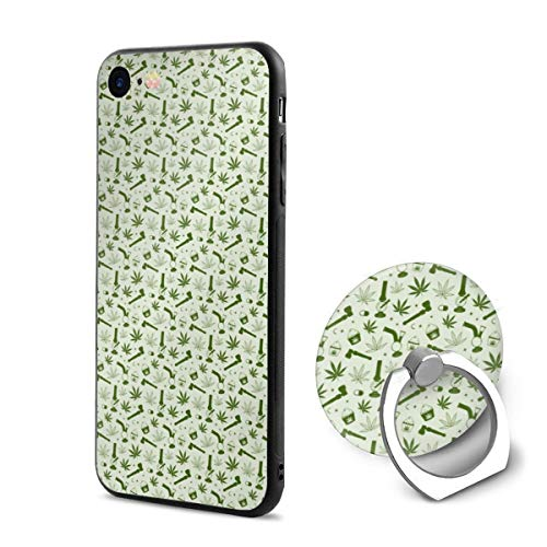 (iPhone 6/6s Case Pot Leaves and Tobacco 360 Degree Rotating Ring Kickstand Case for iPhone 6/6s)