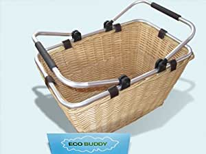 Eco Buddy Mini Aluminum Frame Wicker Market Basket