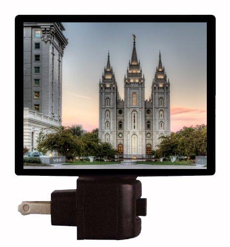 Mormon Night Light - LDS Temple - Salt Lake - Outlet Lake Salt