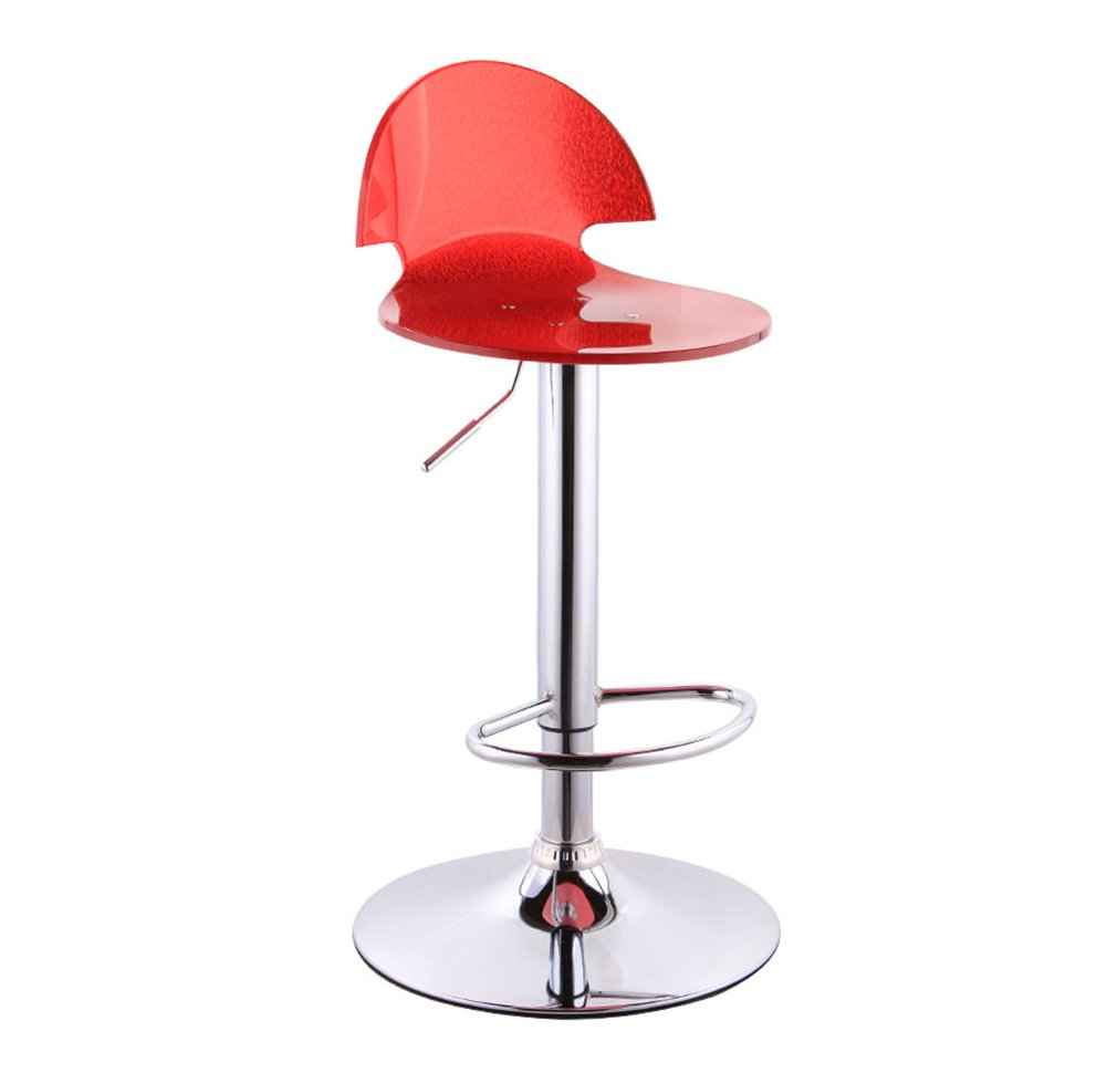 8 Bar Stool, Bar High Stool redate Cafe Counter High Back Woody Creative Tall Front Desk Kitchen Chair European High 5676cm 360 Degree (color    5)