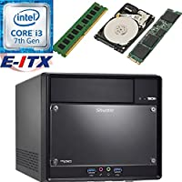 Shuttle SH110R4 Intel Core i3-7100 (Kaby Lake) XPC Cube System , 4GB DDR4, 480GB M.2 SSD, 2TB HDD, DVD RW, WiFi, Bluetooth, Pre-Assembled and Tested by E-ITX