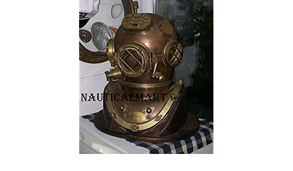 Collectible Full Size Nautical Iron Divers Nickel Plated Diving Helmet Mark Iv Selling Well All Over The World Other Maritime Antiques