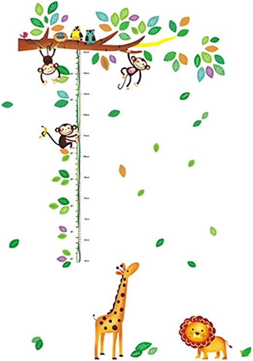YeahiBaby Medidor de altura ni/ños Gr/áfico de crecimiento para beb/é decoraci/ón de pared la habitaci/ón infantil