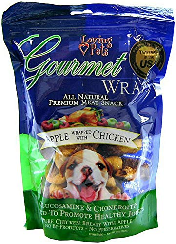 (Loving Pets Apple & Chicken Wraps Dog Treats, Gourmet All Natural, 6 Ounce, 24 Pack)