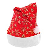 Xeminor Premium Quality 1PC Large Area of Snow Christmas Hat Classical Santa Claus Styel Christmas Party Decoration