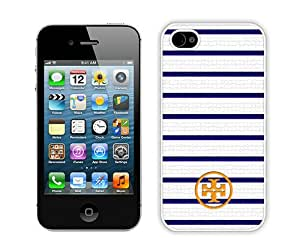 Fashionable And Unique Designed Case For iPhone 4S With Tory Burch 72 White Phone Case