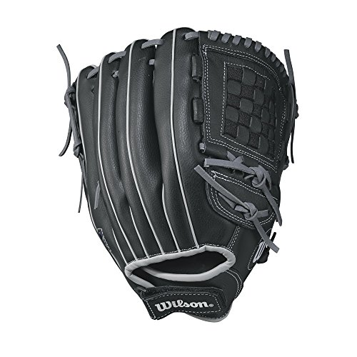"Wilson A360 Baseball Glove, 12.5"", Black/Wilson Gold, Left Hand"