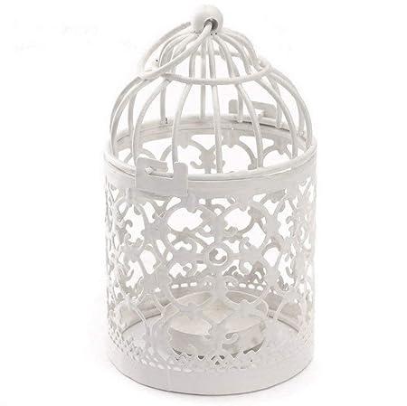 wdoit Metal blanco creativo decoración del hogar jaula de pájaros ...