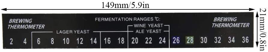 5pcs Stick on Brewing Thermometer Adhesive LCD Thermometer Sticker Homebrew Beer