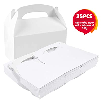 35PCS White Color Treat Gift Paper Cardboard Favor box Candy Cake Box Birthday Party Wedding gift: Toys & Games [5Bkhe0505271]