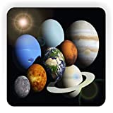Rikki Knight Solar System Planets Design Square Fridge Magnet