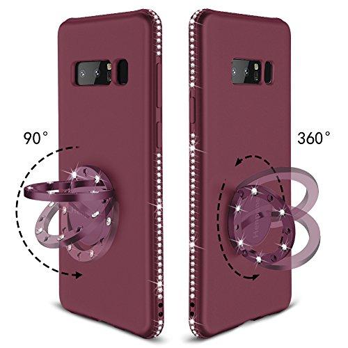 Henpone Samsung Galaxy Note 8 Case, Glitter Phone Case for