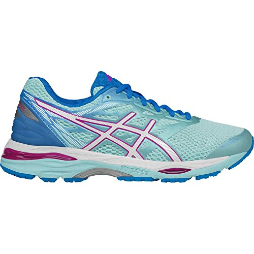Pictures of ASICS Women's Gel-Cumulus 18 Running Shoe T6C8N Aqua Splash/White/Pink Glow 1