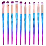 cream eyeshadow set - Eye Shadow Brush Set Unicorn 10Pcs Eye Makeup Brushes for Shading or Blending of Eyeshadow Cream Powder Eyebrow Highlighter Concealer Cosmetics Brush Tool