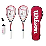 Wilson Hyper Team 300 Squash Racket Set With Squash Balls & Waterbottle RRP 80 by Wilson