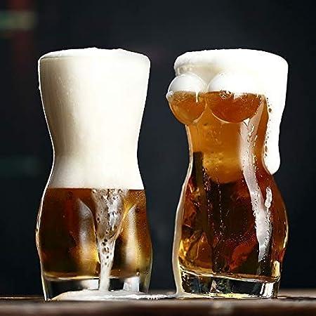 Copas de vino Señora cóctel creativo 3D atractiva de los hombres Durable doble pared transparente whisky disparo copas de vino de cristal pecho grande de cerveza de 700 ml Copa regalo de los amantes g