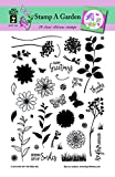 Clear Silicone Stamp Set by Hot Off The Press | Scrapbooking, Card Making, Gifts and Home Décor - Inspiration at Your Finger Tips (Stamp A Garden)