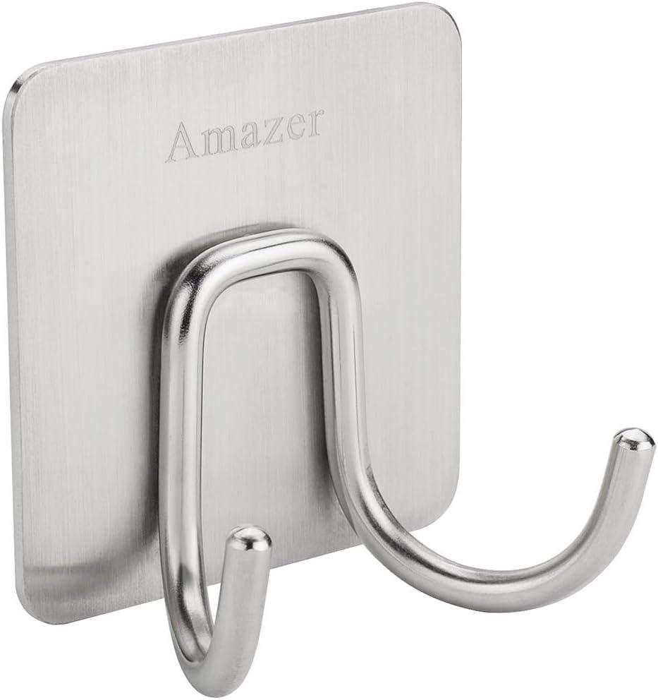 Puertas Ganchos para Colgar en Forma de Z de Acero Inoxidable para Colgar Abrigos Toallas Cuarto de ba/ño o Dormitorio Wimagic Ganchos Reversibles para Cocina 2 Unidades