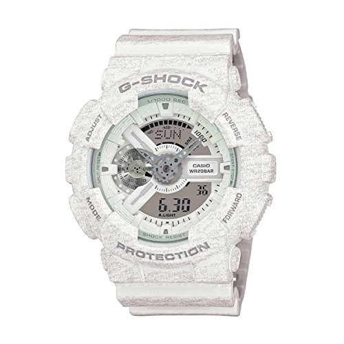 (Casio Men's G-Shock GA110HT-7A White Resin Quartz Watch)