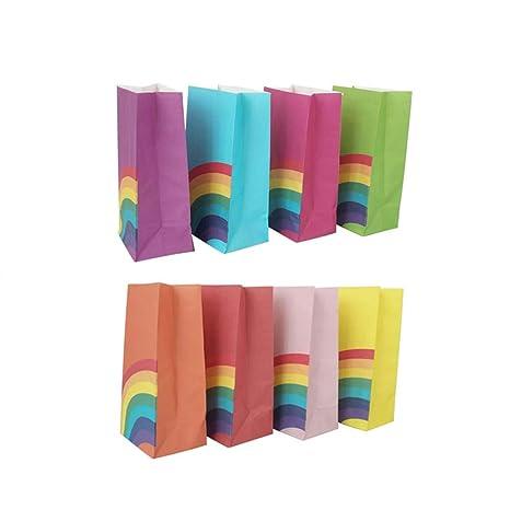 40pcs bolsa de papel del arco iris bolsas de alimentos del ...