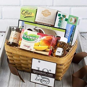 Image Unavailable & Amazon.com : Gift Basket of Tea and Honey (1.1 pound) : Gourmet Tea ...