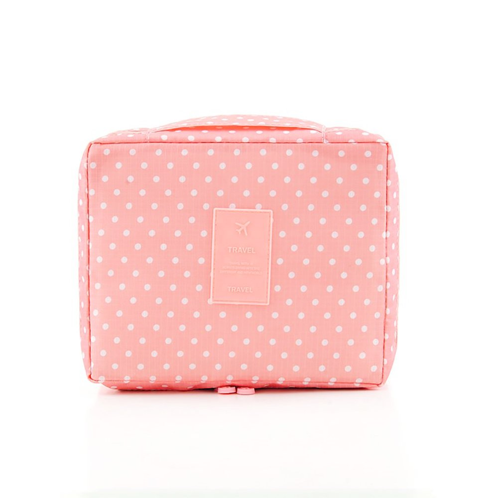 Make-up Wash Viaje Maquillaje Makeup Neceser Organizador Bolsa Bolso 1pcs Rosa Smile Face cereza 1 Paquete NaiCasy