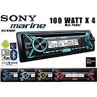 Volunteer Audio Sony MEX-M100BT Car Stereo Single Din Marine Radio with Bluetooth, 100W x 4 Built-in Amp, CD Player