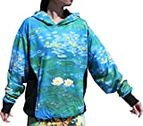 RaanPahMuang Water Lilies Fine Art by Claude Monet - Hoody Long Sleeve Sweater, Medium