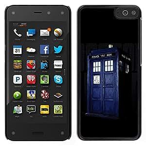 LECELL--Funda protectora / Cubierta / Piel For Amazon Fire Phone -- Policía compartimento azul retro Cárcel --