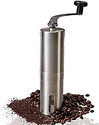 6a011b6e81b Manual Coffee Grinder – Adjustable Ceramic Conical Burr Coffee Bean Mill  With Stainless Steel Body & Easy Hand Crank, Brewing Grinders for Office  Home, ...