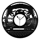 VinylShopUS - Beach Design Vinyl Wall Clock Design Unique Home Room Office | Home Decoration