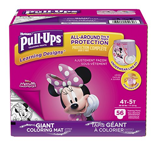 Large Product Image of Pull-Ups Learning Designs Training Pants for Girls, 4T-5T (38-50 lbs.), 56 Count, Toddler Potty Training Underwear, Packaging May Vary