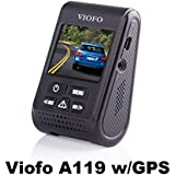 Viofo A119G 1440P 30fps Car Dash Camera (V2 Model) With GPS Mount + 90 Degree miniUSB Adapter