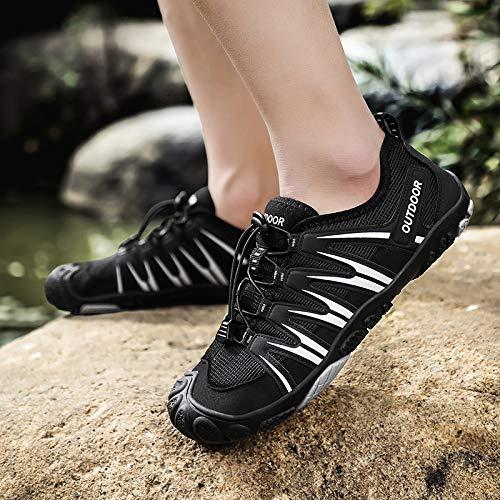 GEFANENR Zapatos De Buceo,Summer Quick Dry Water Black Shoes Sport Beach Swimming Shoes Men Women Sneaker Non-Slip Yoga…